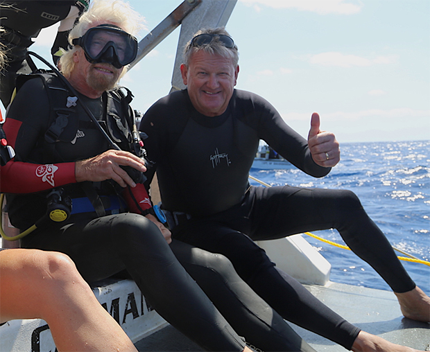 Richard Branson and Guy Harvey